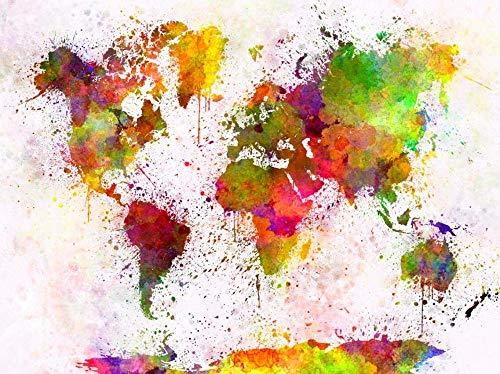 ZYJHD Puzzles para Adultos 1000 Piezas - Mapa del Mundo de Acuarela - Juguetes de Entretenimiento para Adultos Graduación Especial o Regalo de cumpleaños