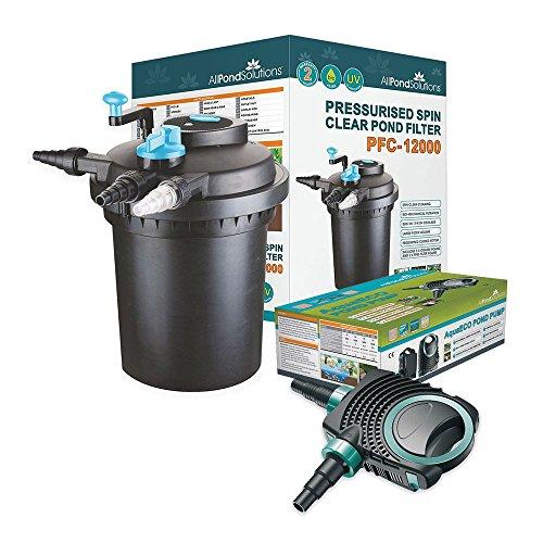 Pressurised 5000L Koi Fish Pond Filter 11w UV Steriliser//FPP 3500L//H Pond Pump FULL KIT