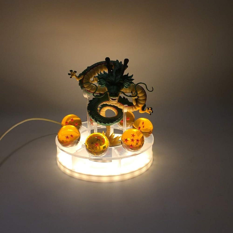 CXQ Anime Dragon Ball Z Theaterotition Shenlong Gruppe Lijing Produkte Handgemachtes Modell leuchtendes Spielzeug, Qinglong mit Lichtern (USB)