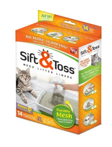 As Seen On TV Sift & Toss Mesh Litter Liners(Size- X large)