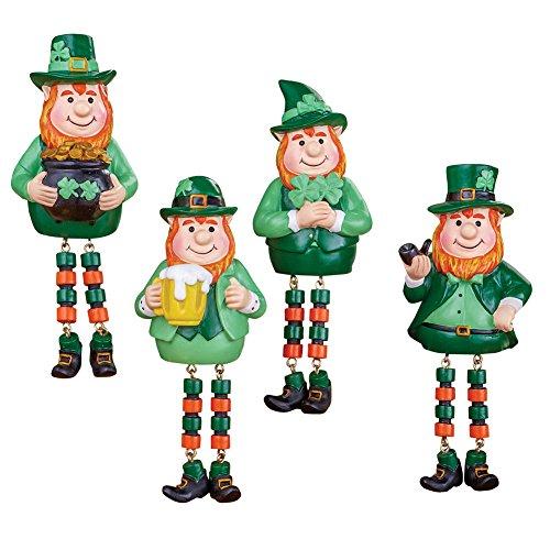 Collections Etc St. Patrick's Leprechaun Figurine Sitters - Set of 4
