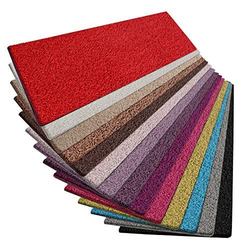 casa pura Shaggy Teppich Läufer Barcelona | weicher Hochflor Teppichläufer für Flur, Wohnzimmer, Schlafzimmer etc. | GUT-Siegel | viele Größen | Moderne Farben | 100x150 cm | Rot
