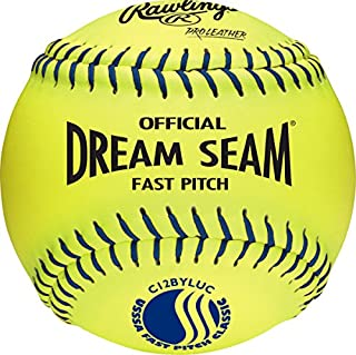 Rawlings Official USSSA Fastpitch Softball, 12 Count, C12BYLUC