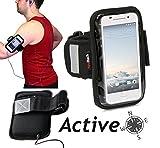 Navitech wasserdicht schwarz Sport/Radfahren/Skifahren Armband Tasche case für das Oppo R7 / R7 Lite
