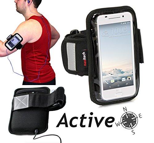 Navitech wasserdicht schwarz Sport/Radfahren/Skifahren Armband Tasche case für das Oppo Mirror 5 / Mirror 5s