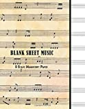 Blank Sheet Music : 8 Stave Manuscript Paper: 100 Pages, 8.5' x 11' Large Staff Paper Notebook Journal Composition Book (Volume 3)