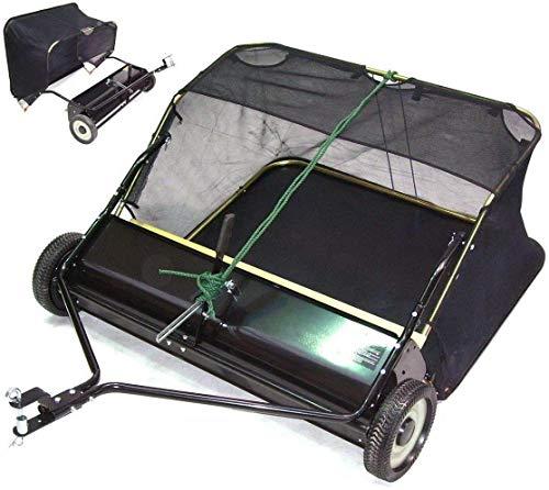 Rasenkehrer Rasenkehrmaschine Aufsitzmäher Rasentraktor Kehrmaschine, Rasenkehrmaschine für Aufsitzmäher mit 96cm AWZ Arbeitsbreite