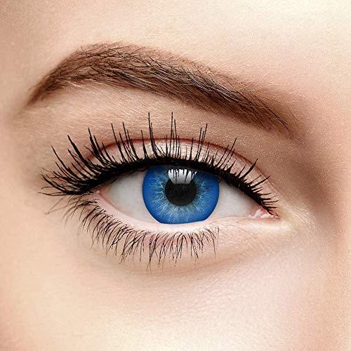 Chromaview 2 Ton Natürlich Gefärbte Kontaktlinsen Ohne Stärke Blau (Tageslinsen)