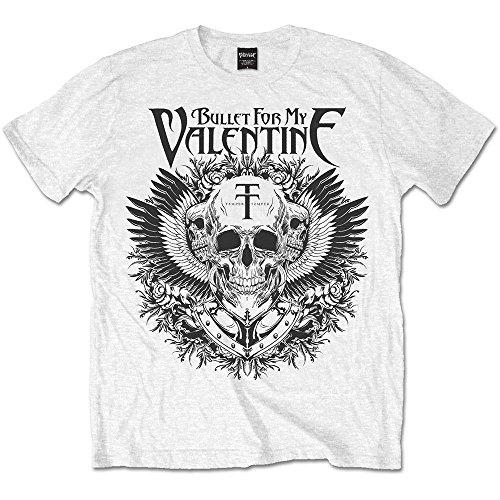Bullet For My Valentine BFMV t-Shirt Hommes XL Blanc Noir Aigle