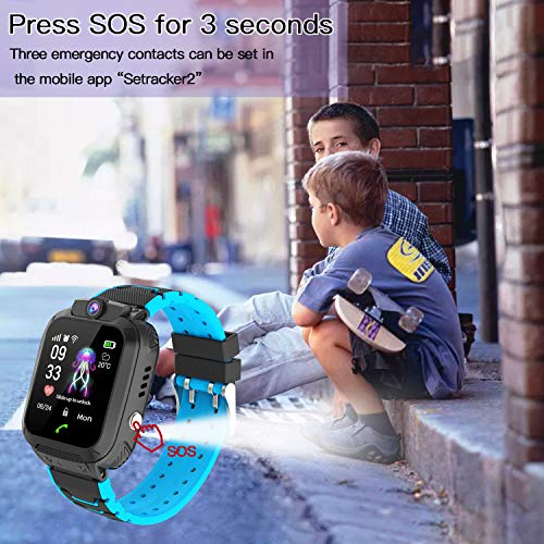 Kinder SmartWatch Phone Smartwatches mit Wasserdicht IP67 SOS Voice Chat Kamera Wecker Digitale Armbanduhr Smartwatch Junge Mädchen Birthday