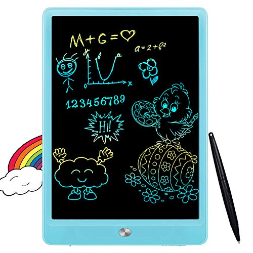 FLUESTON LCD Writing Tablet 10 Inch Drawing Pad, Colorful Screen Doodle Board for Kids, Traveling Gift Toys for 2 3 4 5 6 Year Old Boys and Girls