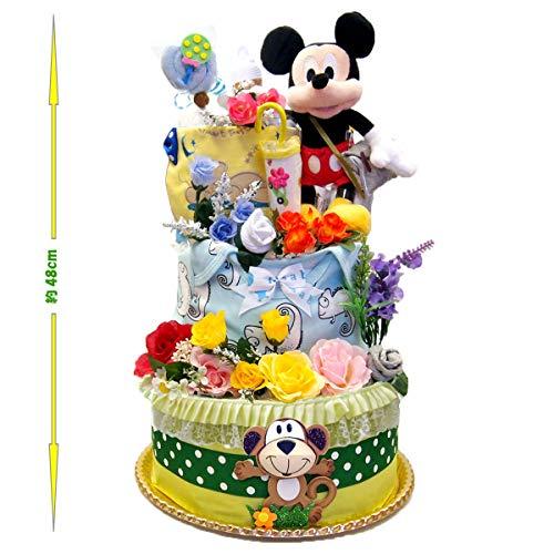 出産祝い ディズニー ミッキー おむつケーキ 男の子 パンパース 57枚 豪華3段 ベビー 人気 カーターズ disney baby DK3016-S (ミッキーマウス)