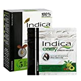 Indica Easy Shampoo based Hair Colour with Amla, Henna and Hibiscus Extracts (Black)(97.5ml)(3.29 Fluid ounces)