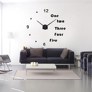 MLOREI DIY Wall Clock Modern Design Large Clocks for Living Room Decorativean 3D Stickers Big Wall Watch Home Decor 47inch...