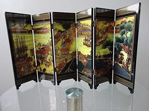 ZAMTAC Biobu Qingming Festival Exquisito Chino único de Madera 6 Piezas