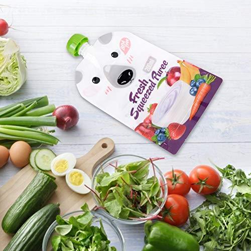Bolsa portátil para bebidas de frutas y verduras, ecológica y fuerte, bolsa de comida reutilizable para bebés de 8 piezas para beber alimentos