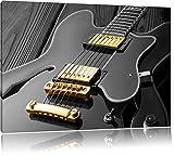 elegante E-Gitarre schwarz/weiß Format: 120x80 auf