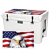 MightySkins (Cooler Not Included) Skin Compatible with YETI Tundra 105 qt Cooler Lid - America Strong | Protective, Durable, and Unique Vinyl Decal wrap Cover | Easy to Apply | Made in The USA