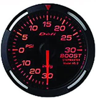 Defi DF11502 Racer PSI Turbo Gauge, Red, 60mm