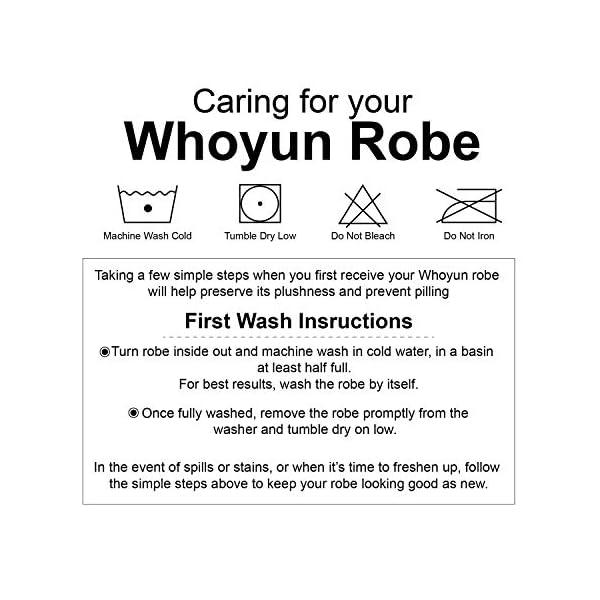 Whoyun Mens Robe Plush with Hood Bathrobe Big and Tall Hooded Lightweight Fleece Flannel