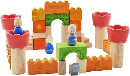 SU Kind Schloss Baustein Spielzeug Zusammenbauen Klassisch Umweltschutz 3-6 Jahre alt Eltern-Kind Erleuchtung