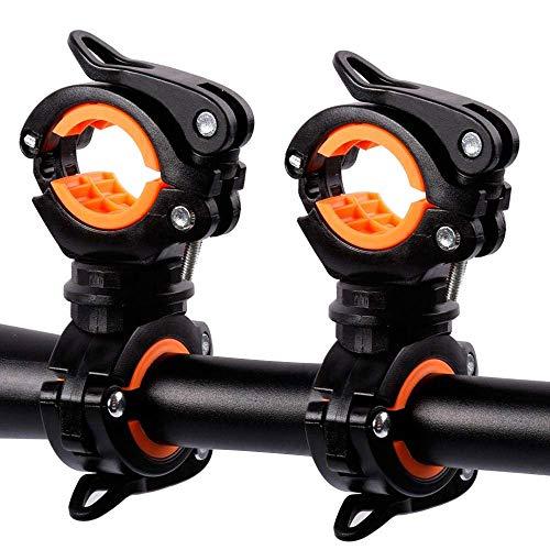 Fahrrad-Taschenlampen-Halterung, Fahrrad-Taschenlampen-Halterung, Fahrrad-Lichtklemme, 2 Stück