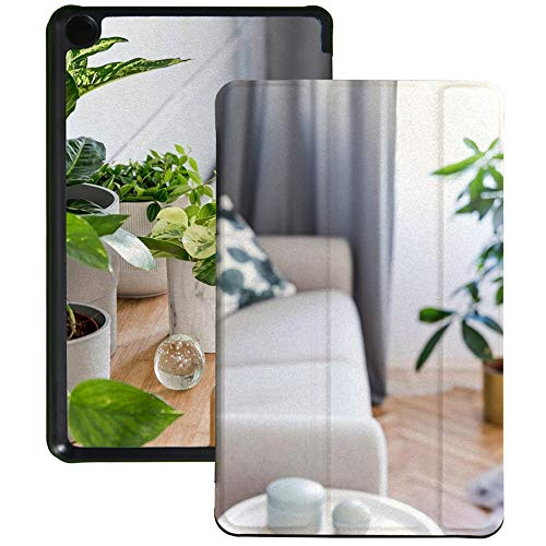 Colorful Star Slim Case Fits All-New Kindle Fire 7 Tablet (9th Generation, 2019 Release) - PU Leather Trifold Stand Cover Protective Case with Auto Wake/Sleep for Fire 7 Tablet - Living Room Decor