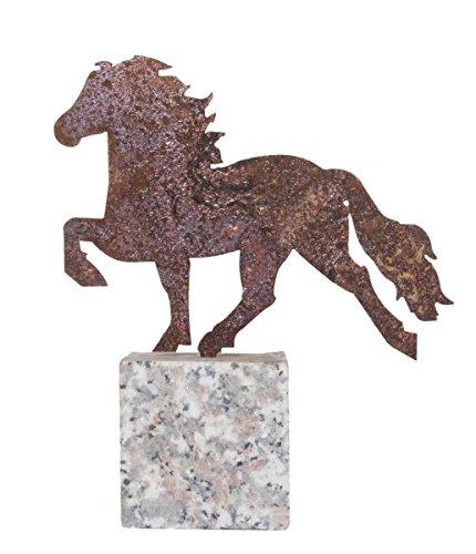 Karlslund k601 - Cavallo in acciaio su granito