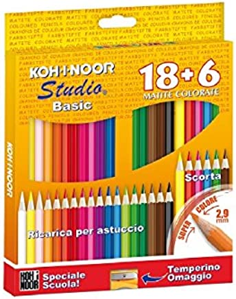 gris KOH-I-NOOR 3223 Contour Color crema Ronda Dibujo L/ápiz caja de 12
