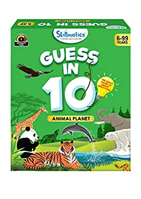 Skillmatics Educational Game : Animal Planet - Guess in 10 (Ages 6-99 Years) | Card Game of Smart Questions | General Knowledge for Kids, Adults and Families | Gifts for Boys and Girls