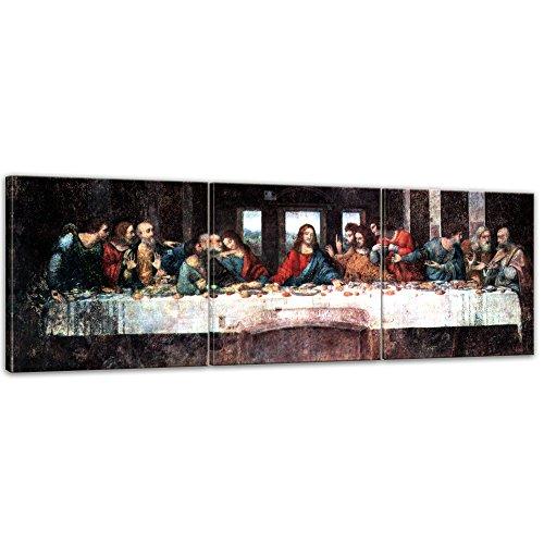 Wandbild Leonardo da Vinci Das Abendmahl - 120x40cm Panorama mehrteilig quer - Alte Meister...