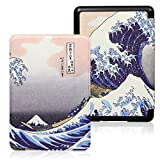 Kindle Case,Funda Inteligente De Funda Inteligente Para Kindle Kindle Paperwhite Case Para Kindle 10Th Hard Case Para Kindle Paperwhite 4 Print Cover (Modelo: Pq94Wif), Kanagawa Surfing