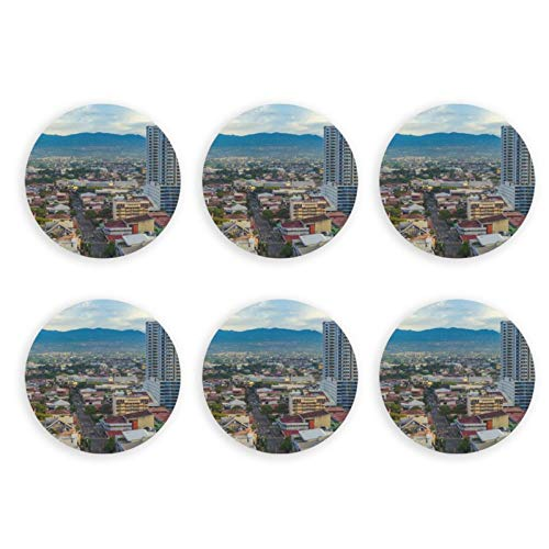 Stainless Steel Magnets Refrigerator Dual as Bottle Opener Set of 6, San Jose Costa Rica Capital City Design Cool Strong Refrigerator Magnet for Kitchen Office Cabinet Bar, Oleeka