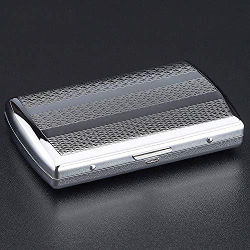 CHENG Metall Zigarettenetui tragbare Männer Metall Eisen Zigaretten Box Werbegeschenk bietet Platz für 12,Color1,86X55X17MM