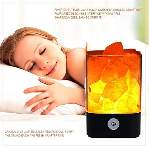 Himalaya zoutlamp met dimschakelaar, Light of Himalaya zoutlamp, zoutlamp Himalaya zoutkristallen lamp, zuiver natuurproduct, ideaal nachtlampje voor slaapkamer, slaapkamer, slaaphulp, nachtlampje, meditatie [energieklasse A++]