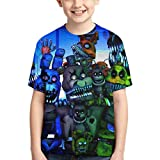 Five Nights at Freddy's Bear Kids T Shirts Summer Tops Tee Shirts for Boys Girls Size M