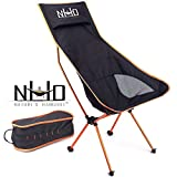 Ultralight Camping Chair - Folding, Compact, Lightweight & Portable. Comfortable Design. Best for RV, Outdoor Hiking, Fishing, Hunting, Kayaking, Backpacking, Festivals, Concerts and Travel (Orange)