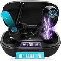 Bluetooth イヤホン 防水 高音質 低遅延 自動ペアリング ワイヤレスイヤホン ノイズキャンセリンク ブルートゥース イヤホン 両耳/片耳対応 マイク内蔵 ヘッドホン