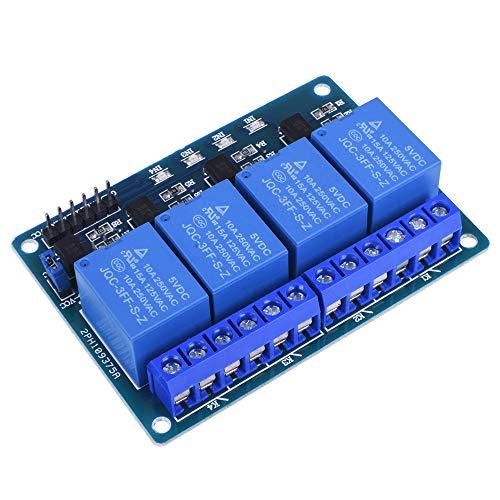 Kuman 4 Channel DC 5V Relay Module for ArduinoIDE Raspberry Pi DSP AVR PIC ARM K49