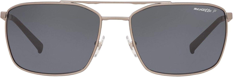 ARNETTE Men's An3080 Maboneng Metal Rectangular Sunglasses