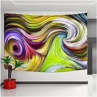 タペストリー壁掛けカラフルな抽象的なパターン装飾壁アートボヘミアン寝室ホームヒッピー装飾