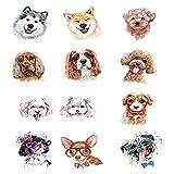 YLGG Etiquetas engomadas temporales del Tatuaje de la Moda del Cachorro, adecuadas para Hombres y Mujeres, Impermeables, extraíbles