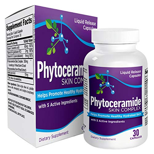 Skin Hydration Phytoceramides Supplement - Skin Health & Hydrating Booster Pills Supplements