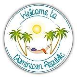 HONGXIN Cartel de metal para pared con diseño de República Dominicana, para viajes, relajarse, retro, para bar, cafetería, garaje, hotel, oficina, dormitorio
