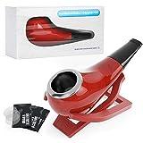 Joyoldelf - Pipa de tabaco con soporte plegable y accesorios para pipa