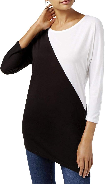 INC Womens colorblocked Basic TShirt