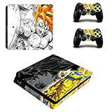 YISHO PS4 Slim Skin Sticker Decal Vinyl for Playstation 4 Console and 2 Controllers PS4 Slim Skin Sticker (YSP4S-0303)
