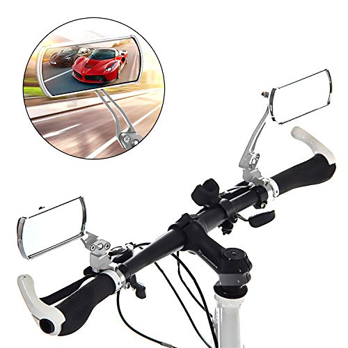 Waflyer 2 Piezas Espejo Retrovisor Bicicleta, 360 ° Giratorio Retrovisor Manillar Bici...