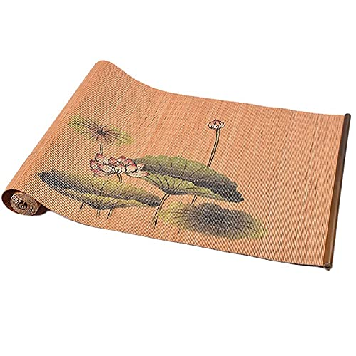 Lqdp Caminos de Mesa Japansk Stil Bambu te Matta,30 cm bred rektangel bordslöpare för toalettbord/entré skåp dekor,skärbar (Size : 30x210cm/11.8x82.7in)