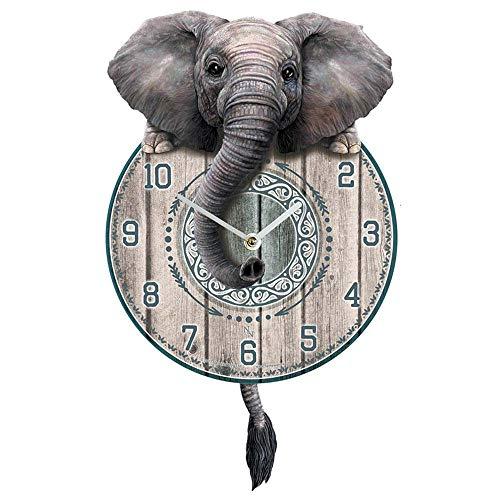 Nemesis Now Trunkin' Tickin' Clock 25 cm, grigio MDF
